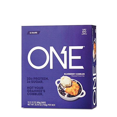 ONE Protein Bar, Blueberry Cobbler, 20g Protein, 1g Sugar, 12-Pack