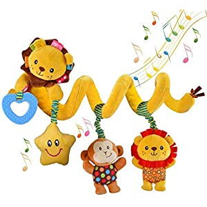 xinglong Hanging Car Seat Toys, Infant Baby Activity Plush Toys for Crib Mobile Stroller Bar Car Seat Mobile – with…