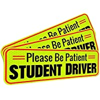 Student Driver Magnet Car Signs for The Novice or Beginner. Better Than A Decal or Bumper Sticker (Reusable) Reflective…