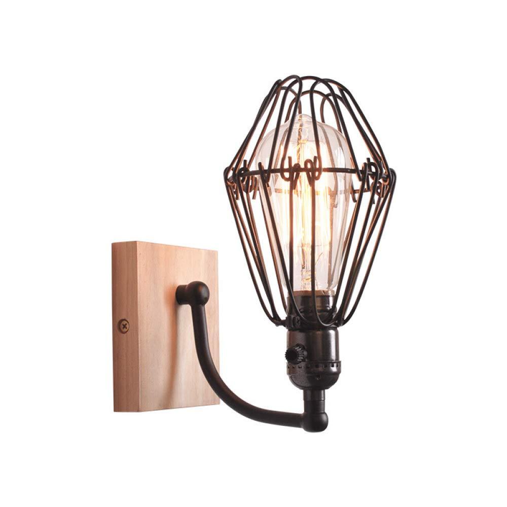 MICOKY Wand Lampe Retro Loft Bar Cafe Gang Schlafzimmerbalkon Studie Villa Eisen E27 Wandleuchte