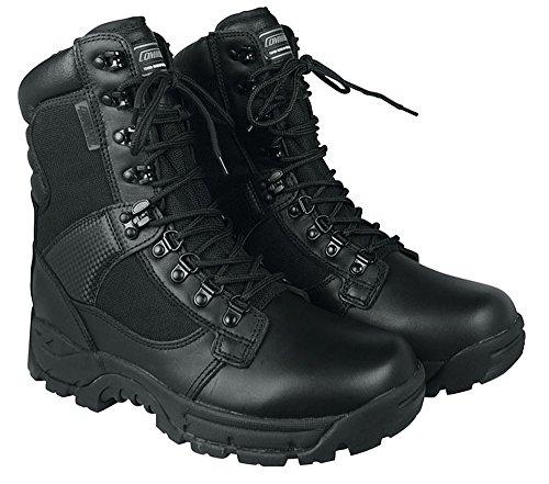 Botas de lucha de Elite Forces - botas de seguridad - policía de botas de piel con Thinsulate-revestimiento interior tamaño 44