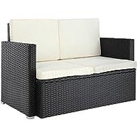 Raward Ratan Double Seater Sofa With Cushion Black Color