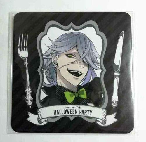 Black Butler Coaster Undertaker 葬儀屋 Funtom Cafe Halloween Yana Toboso Anime F/S -