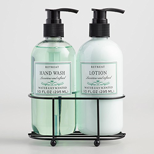 Retreat Water Lily Liquid Soap And Lotion Caddy O 10 Oz  P Oz Each
