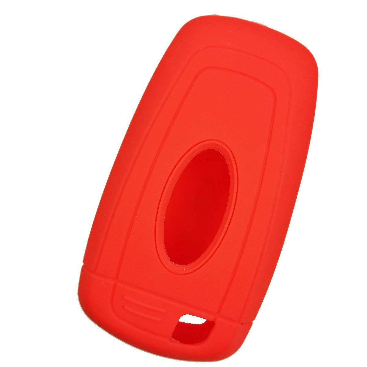 Red E-Senior 5 Buttons Silicone Car Key Case//Cover Remote Fob Key Case Cover Remote Holder Protector for 2017 Ford Fusion F250 F350 F450 F550
