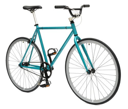 Critical Cycles Fixed Gear Single Speed Fixie Urban Road Bike (Celeste/Silver,...