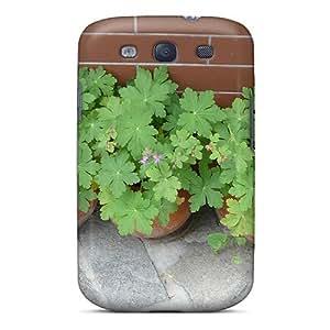 NikRun Galaxy S3 Hybrid Tpu Case Cover Silicon Bumper Geranium 02