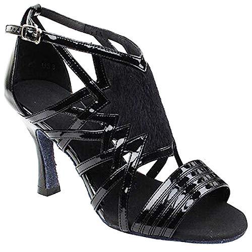 Women's Ballroom Dance Shoes Tango Wedding Salsa Dance Shoes Black Sera7016EB Comfortable - Very Fine 2.5