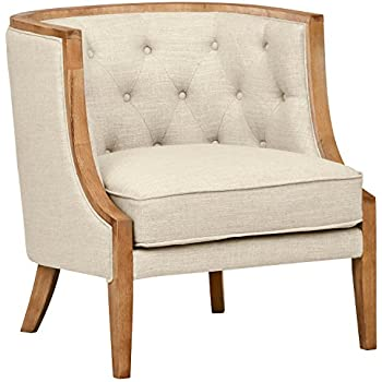 Amazon Com Baxton Studio Chavanon Wood Linen Traditional
