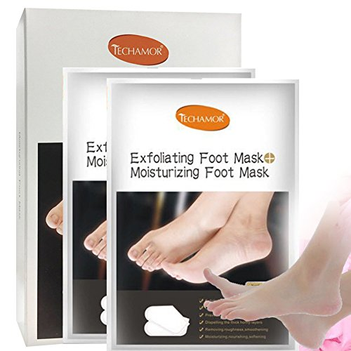 2 Pairs Moisturizing Foot Mask Makes Skin Hydrate Soft Smooth Dry Feet Socks for Men Women by Generic