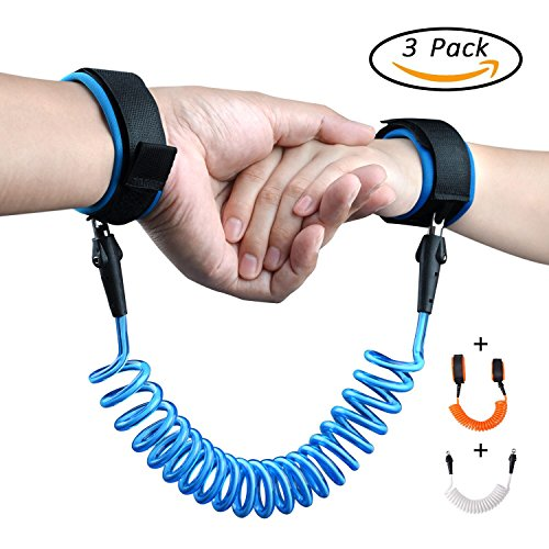 NKEEN Anti Lost Wrist Link Velcro Safety Harness Belt For Kids Or Children During Running palying Shopping Travel Set Of 3 Blue Orange - Place Mail Mall