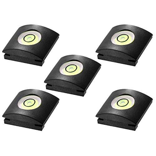 Neewer 5pcs Cámara Linterna Tapa de Zapato con Nivel de Burbuja para Canon, Nikon, Panasonic, Fujifilm, Olympus, Pentax,...