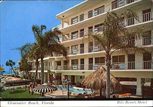 Ritz Resort Motel, 355 So. Gulfview Boulevard Clearwater Beach, Florida Original Vintage Postcard ()