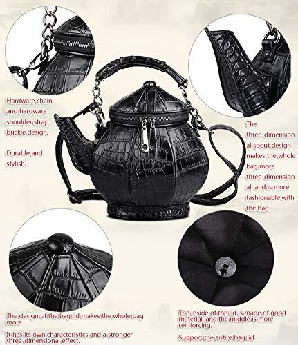 3d A Superiore Forma Tracolla Di spalla Personalità Manico Donna Teiera One Yrrc Bag Borsa Bollitore Borsa Messenger FXqFpdU