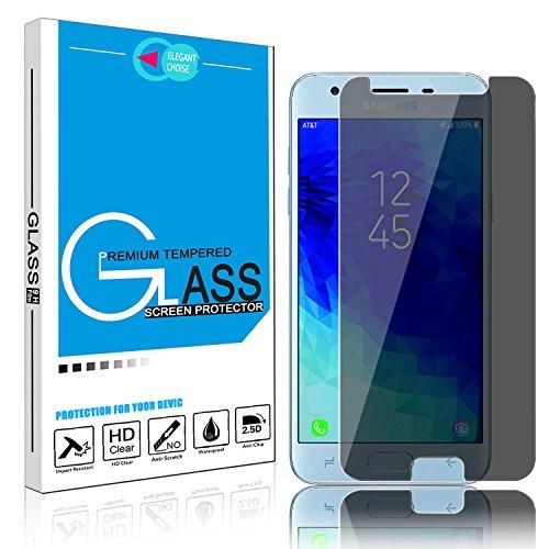 (Samsung Galaxy J3 Achieve, Galaxy J3 Star, Galaxy J3 Prime 2, J3 Emerge 2018, Amp Prime 3, J3 Aura, J3 Orbit, Sol 3, Galaxy J3 2018 Screen Protector- Privacy Bubble Free Scratch Resistant (1 Pack))