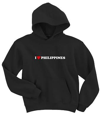 Amazon Com Gildan I Love Philippines Hoodie Sweatshirt Clothing