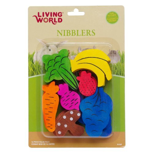 LW Nibblers, Wood Chews, Fruit/Veggie Mix by Living World
