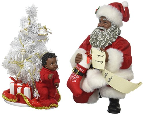 Department 56 Possible Dreams Santa Claus Baby s First Tree AA Clothtique Christmas Figurine