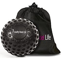"HEALTHYMODELLIFE 5"" Foam Roller Massage Ball by Healthy Model Life - Better Than Any Foam Roller For Trigger Point and Glute Release - Includes Free Carry Bag"
