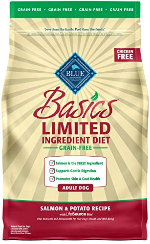 BLUE Basics Limited Ingredient Diet Adult Grain Free Salmon & Potato Dry Dog Food 4-lb