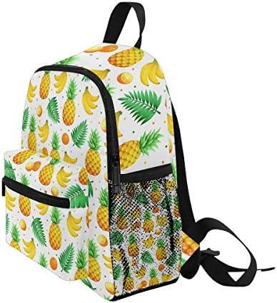 トロピカルフルーツパイナップルバナナ幼児就学前のバックパック本袋ミニショルダーバッグリュックサック通学用1-6年旅行男の子女の子