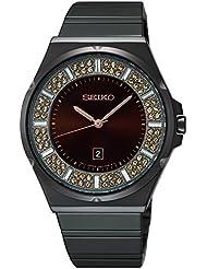 Seiko Womens SXDG35 Analog Display Japanese Quartz Brown Watch
