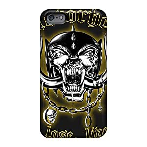 Shockproof Cell-phone Hard Covers For Iphone 6plus (jLv20071JCOK) Support Personal Customs Stylish Motorhead Band Skin