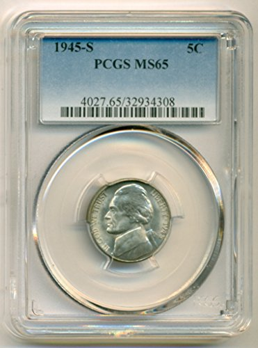 1945 S Jefferson Silver Nickel MS65 PCGS