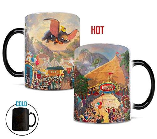 Morphing Mugs Thomas Kinkade Disney's Dumbo the Flying Elephant Circus Painting Heat Reveal Ceramic Coffee Mug - 11 -