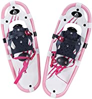 Hewolf Kids Snow Shoes with Adjustable Ratchet Bindings for Girls Boys