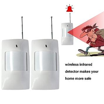 Detector Infrarrojo Inalámbrico De Movimiento ,piabigka del IR La Seguridad del Sensor del Timbre De Alarma 2pcs Antirrobo para Casa, Tienda, ...