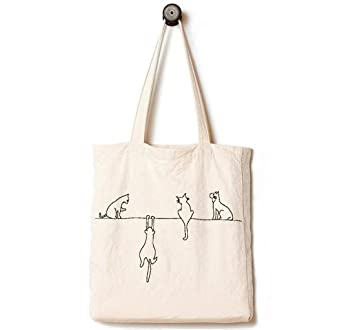 Amazoncom Andes Heavy Duty Canvas Tote Bag With 2 Pockets Inside