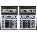 Canon BS‑1200TS 12-Digit Desktop Calculator 2 Pack