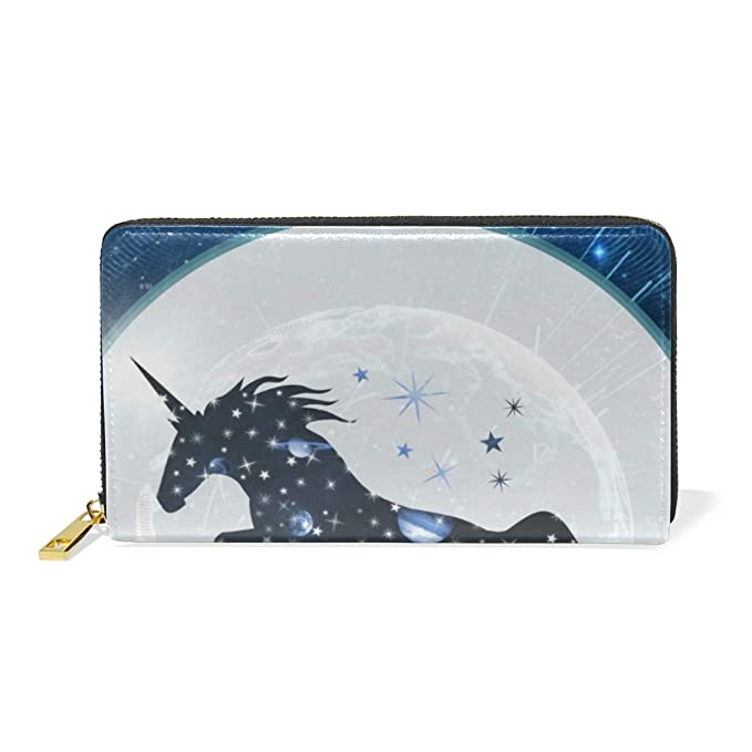 Unicornio Digital De Luz Azul Monedero Cremallera Billetera ...