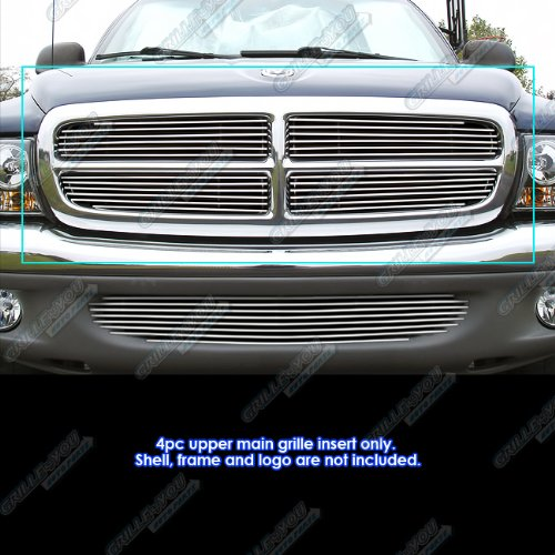 APS Fits 97-04 Dodge Dakota 97-03 Durango Main Upper Billet Grille Insert #D65730A Dakota Billet Grille Grill