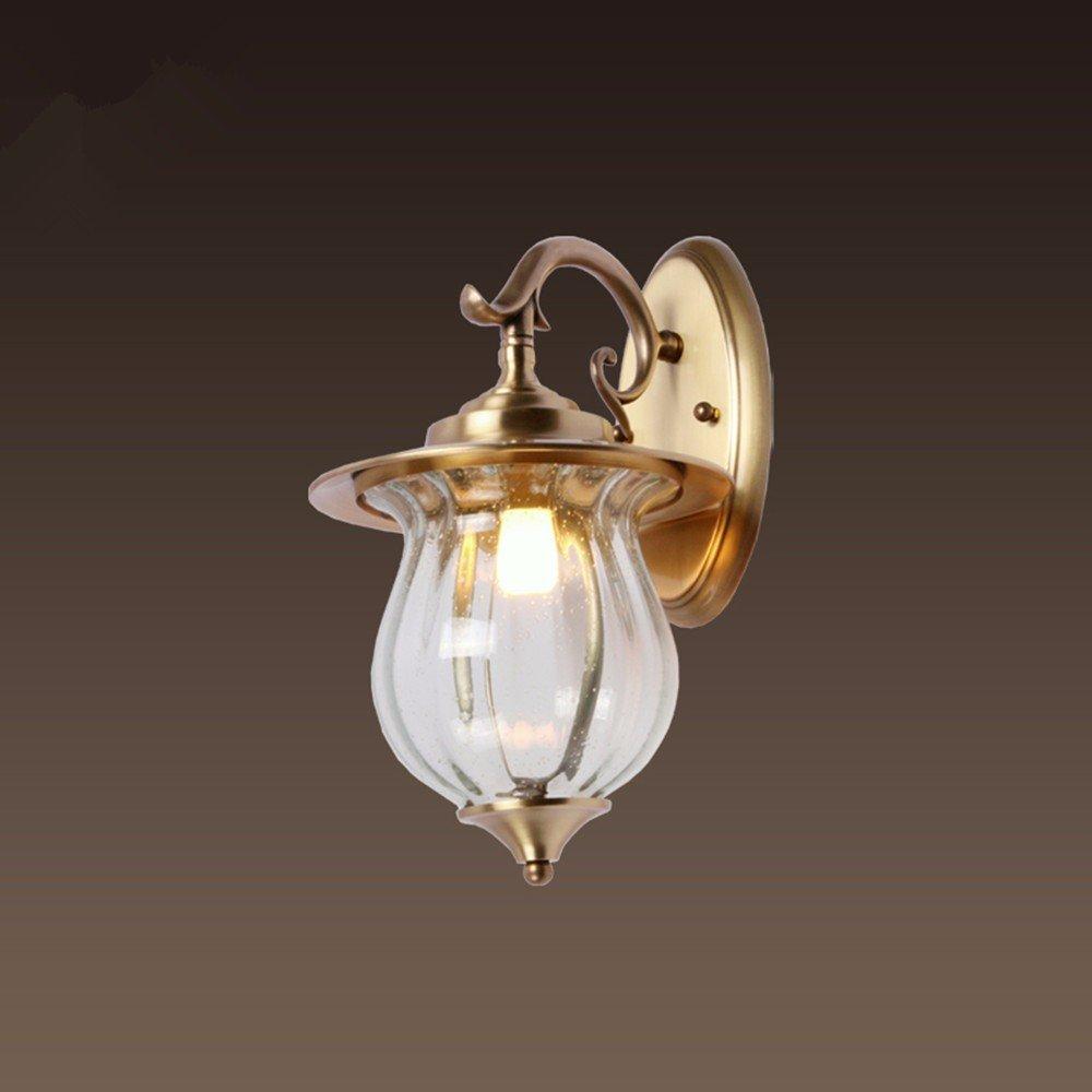 Wandleuchte Outdoor wasserdicht Wand Kupfer Lampe Wandleuchte Lampe leuchtet Gang Balkon Wandleuchte,Durchmesser 260*H430mm
