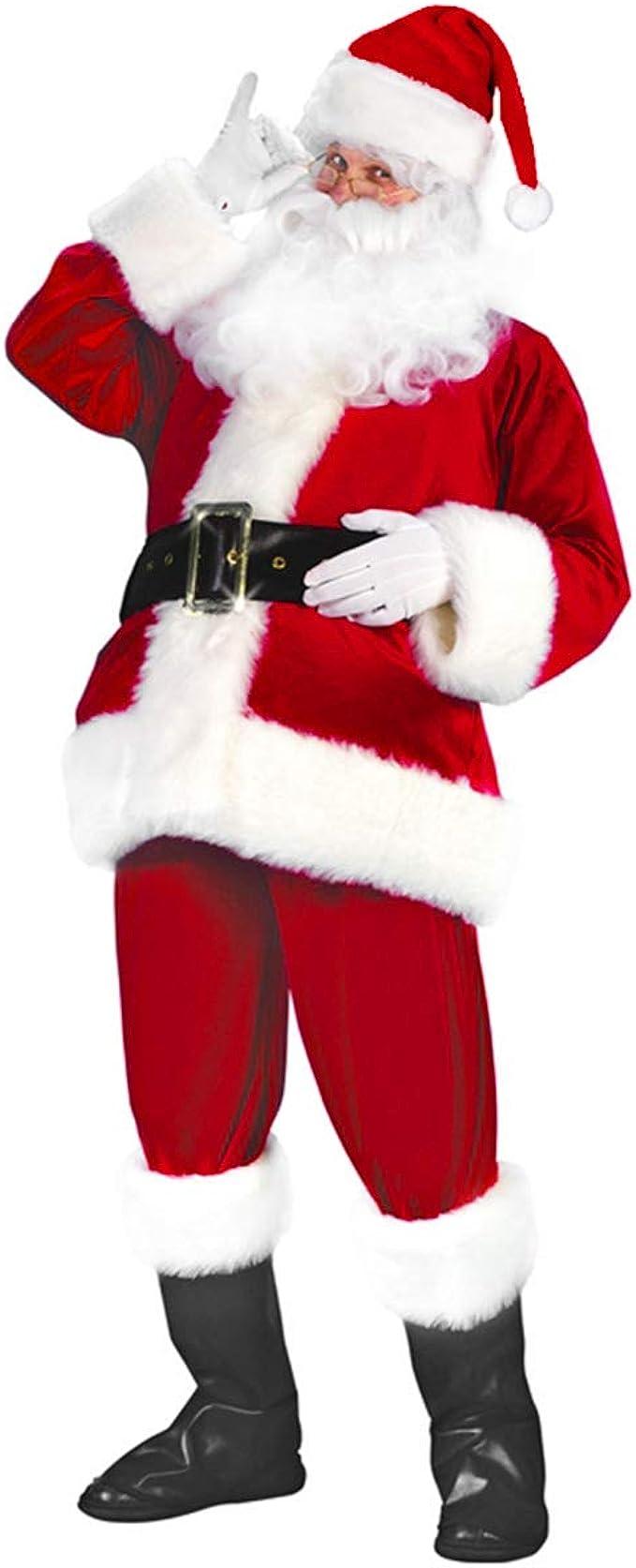 Amazon.com: subleer Santa traje adulto Navidad de Papá Noel ...
