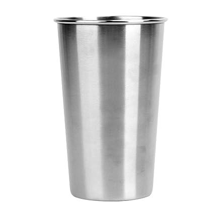 Trendyest Vasos de Acero Inoxidable de 500 ML, Vasos de 40 ML, Vasos de Metal 18/8