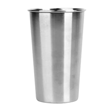 Whitelotous Stainless Steel Cups Tea Tumblers, Wine Water Mugs, Camping Cup - 500ml/17oz