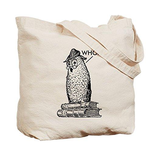 CafePress diseño de búhos gramática dice que–Gamuza de bolsa de lona bolsa, bolsa de la compra Small caqui