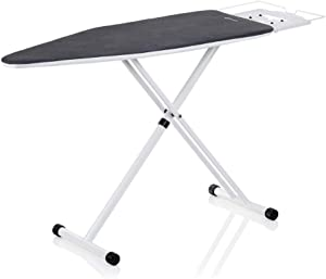 Reliable 120IB Home Ironing Board - Made in Italy Portable Ironing Board with Vera Foam Memory Foam Cover Pad, 7 Step Height Adjustment and Heavy-Duty Tube Frame Construction with Strong Iron Rest