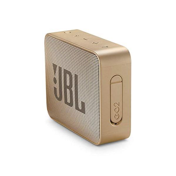JBL Go 2 - Mini enceinte Bluetooth Portable - Étanche pour Piscine & Plage Ipx7 - Autonomie 5hrs - Qualité Audio JBL - Champagne 3