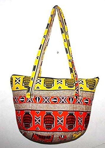 Africa Art Decoration–Medio sacchetto borsa tutto in tracolla art africano in tessuti 7367-l2C-2403