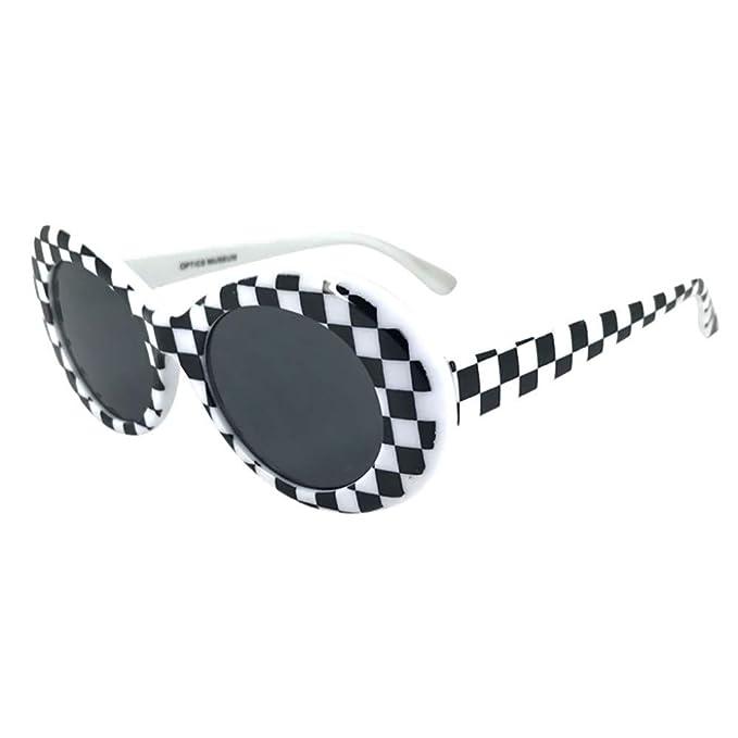 Amazon.com: HYSGM - Gafas de sol unisex con diseño vintage ...