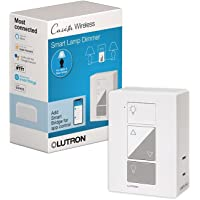 Lutron Caseta Smart Home Plug-in Lamp Dimmer Switch, Works with Alexa, Apple HomeKit, and The Google Assistant   PD-3PCL…