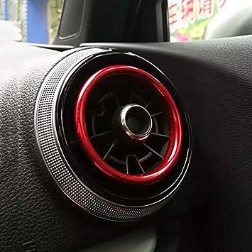 Q2 2017 Accessori Freeauto Air Condition Air Vent Anello di uscita Cover Trim Decorazione adesivo per AUDI A3 S3 2013-2016 auto-styling 4 pezzi Rosso
