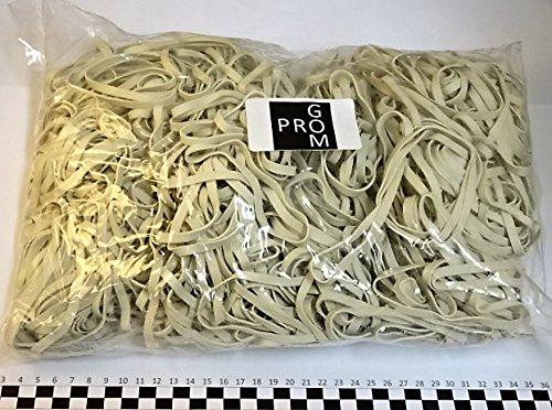 Progom - Elastici di gomma - 100(ø64)mm x 5mm - bianco - borsa 1kg LC NEGOCE KGBC10005