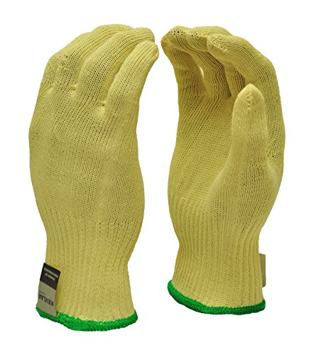 G & F 1678M Cut Resistant Work Gloves, 100-Percent Kevlar Knit Work Gloves, Make by DuPont Kevlar, Protective Gloves to Secure Your hands from Scrapes, Cuts in Kitchen, Wood Carving, - Percent Mitten 100