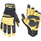 Custom Leathercraft 149L Workman Pro Flex Grip Work Gloves, Large