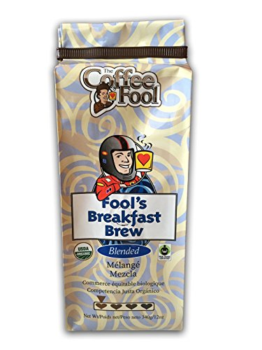 The Coffee Pretend Very Fine Grind, Fool's Organic Fair Trade Breakfast Brew, 12 Ounce